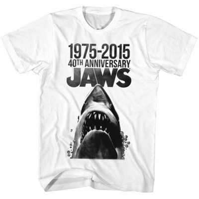 Tシャツ ジョーズ Jaws Movie 40 Years Anniversary Licensed Adult T Shirt