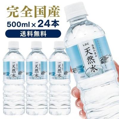 水 ミネラルウォーター 500ml 24本 送料無料 天然水 日本製 LDC 自然の恵み天然水 ナチュラルミネラルウォーター 【代引き不可】