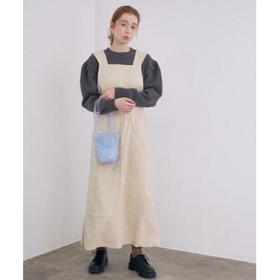 【ロペ】 バッククロスデザインジャンパースカート レディース ホワイト系 38 ROPE'
