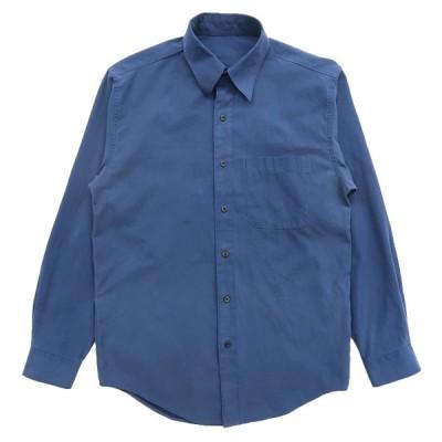 古着 フェイクスウェードシャツ 長袖 サックスブルー サイズ表記:--