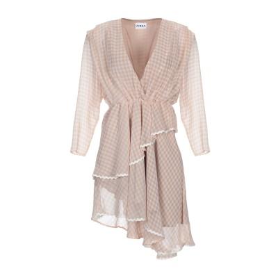 アイネア AINEA ミニワンピース&ドレス ライトピンク 44 シルク 100% ミニワンピース&ドレス
