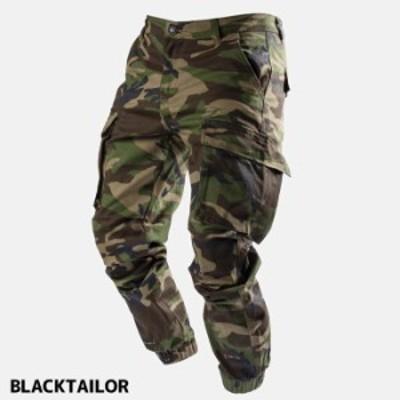 BLACK TAILOR ブラックテイラー メンズ カーゴパンツ C38 CARGO GREENCAMO ストリート系 グリーンカモ ファッション
