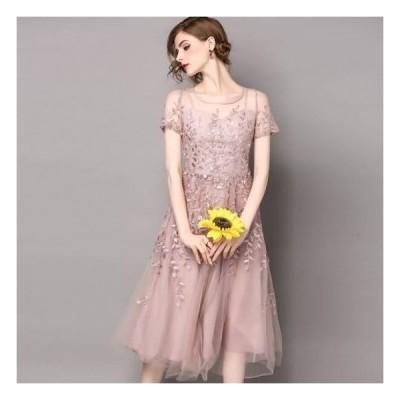 上品 ふんわり シフォン ロング丈 ドレス お呼ばれ パーティー 送料無料商品 パーティードレス 10代 20代 30代 40代 ワンピース