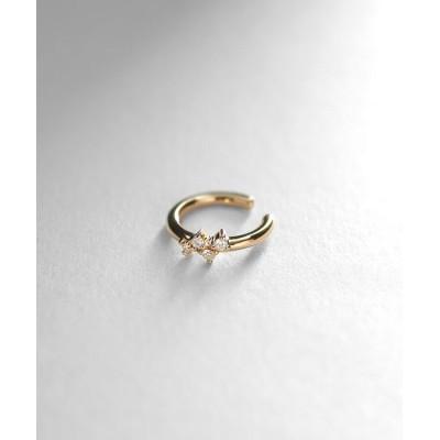 COCOSHNIK(ココシュニック) ダイヤモンド 爪留めランダム ヘリックスイヤーカフ