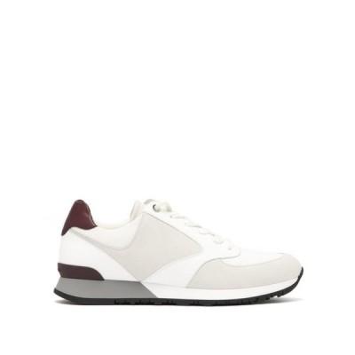 ジョンロブ John Lobb メンズ スニーカー シューズ・靴 Foundry suede, mesh and leather trainers White