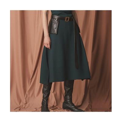 <EPOCA(Women)/エポカ>【La maglia】スリットニットスカート(M5S11430__) ミドリ【三越伊勢丹/公式】