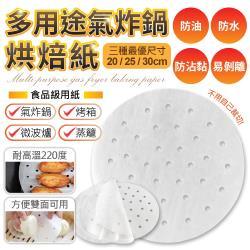 【100張】圓形多用途烘培紙(直徑25公分)料理必備