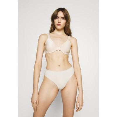 レディース ファッション AINA 3PACK - Thong - black/white/beige
