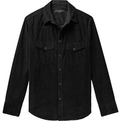 ラグ&ボーン RAG & BONE メンズ シャツ トップス solid color shirt Black