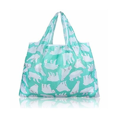 折りたたみ買い物袋 防水素材 (シロクマ)