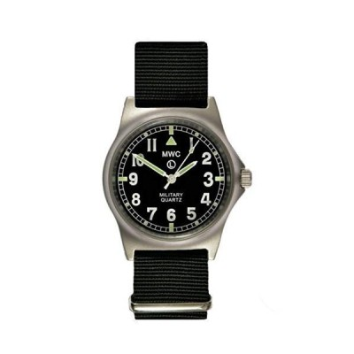MWC Military Quartz Clock g10lm Black Strap No Dates 並行輸入品