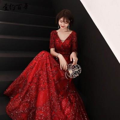 パーティードレス 安い 可愛い イブニングドレス パーティー パーティ 花嫁 ピアノ発表 結婚式 披露宴 ロングドレス