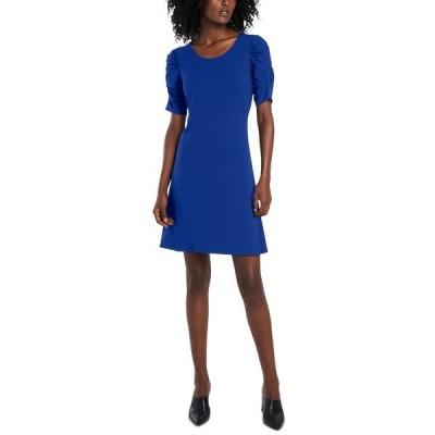 セセ ワンピース トップス レディース Puff-Sleeve Knit Dress Deep Royal Blue