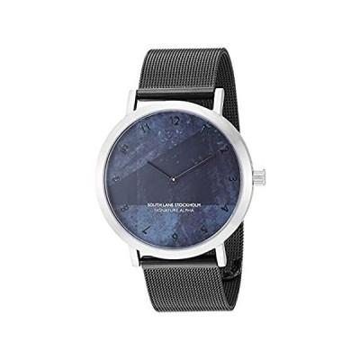特別価格South Lane スイス製クオーツ腕時計 ステンレススチールベルト付き ブラック 19.7インチ (モデル: SS20-dr1-4628)好評販売中