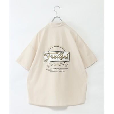 VENCE share style / カレッジロゴプリントシャツ WOMEN トップス > シャツ/ブラウス