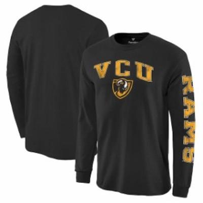 Fanatics Branded ファナティクス ブランド スポーツ用品  Fanatics Branded VCU Rams Black Distressed Arch Over Log