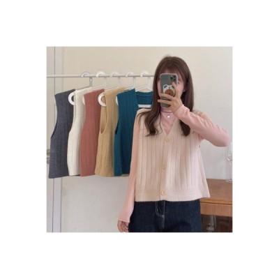 【送料無料】秋 セット 年 女 韓国風 ハーフハイカラー シャツ ニット ベスト ジ | 364331_A63756-8349411