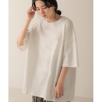 【ブージュルード】 ビッグシルエットクルーネックTシャツ レディース オフホワイト ONE SIZE Bou Jeloud