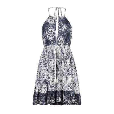 FREE PEOPLE ミニワンピース&ドレス ブルーグレー XS レーヨン 100% ミニワンピース&ドレス