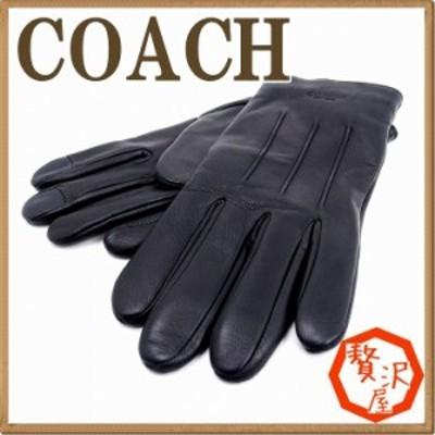コーチ COACH メンズ グローブ 手袋 レザー カシミヤ混 54182