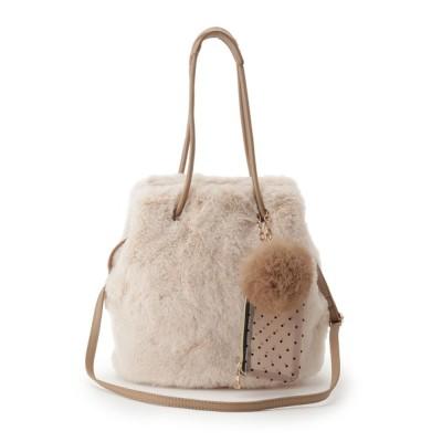 grove / 【WEB限定カラーあり】エコファー巾着ラビポーチ2WAYトート WOMEN バッグ > トートバッグ