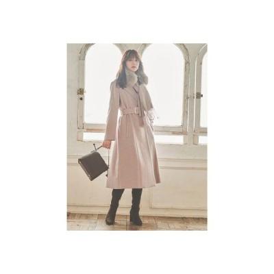 トランテアン ソン ドゥ モード 31 Sons de mode 【コート】ファーストール付きチェスターコート (ピンク)