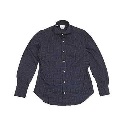 (ジャンネット)GIANNETTO 長袖シャツ メンズ カジュアルシャツ ブルー & ネイビー 正規取扱店 41サイズ(L相当)