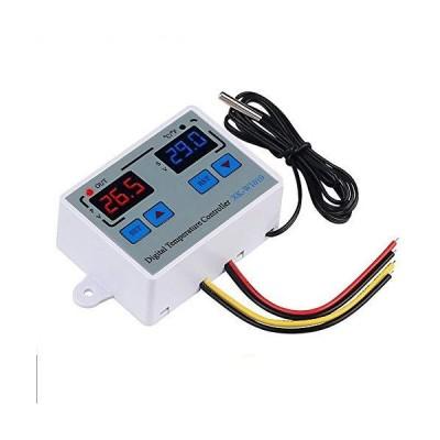 KKmoon デジタルサーモスタット温度コントローラー LED 10Aヒータークーラー 直接出力 温度センサースイッチ デジタル温度調節器 XK-W1