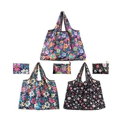 エコバッグ 折りたたみ 大容量 買い物バッグ 防水 手提げ袋 3個セット
