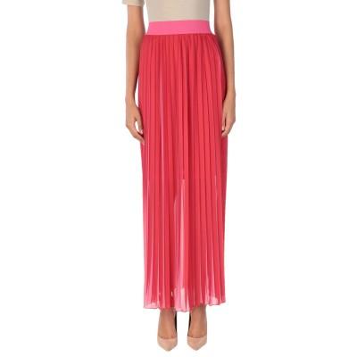 CLIPS ロングスカート レッド 44 ポリエステル 100% ロングスカート