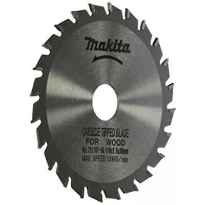 【送料無料】マキタ Makita 721107-6A 4-3/8-Inch 24 Tooth ATB Saw Blade with 20mm Arbor 輸入品