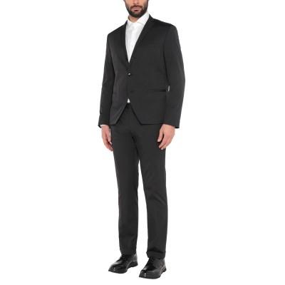 マニュエル リッツ MANUEL RITZ スーツ ブラック 56 ナイロン 49% / コットン 47% / ポリウレタン 4% スーツ