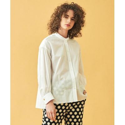 【トゥモローランド】 コットン ギャザースリーブシャツ レディース 11ホワイト 36(9号) TOMORROWLAND