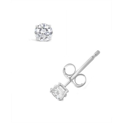 メイシーズ Macy's ユニセックス イヤリング・ピアス Certified Round Diamond Stud Earrings (1/4 ct. t.w.) in 14k White Gold or Yellow Gold