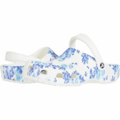 クロックス Crocs レディース クロッグ シューズ・靴 Classic Clog - Seasonal Graphic White/Blue