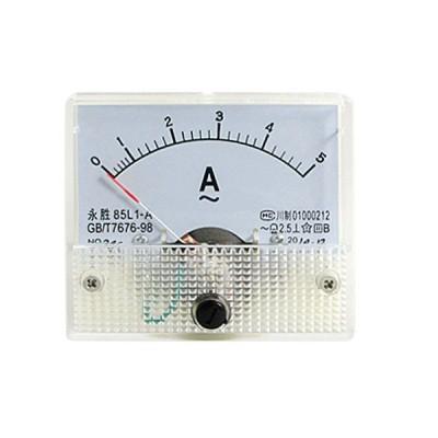 uxcell アナログ電流計 微調整 ダイヤルパネル 85L1-A AC 0-5A
