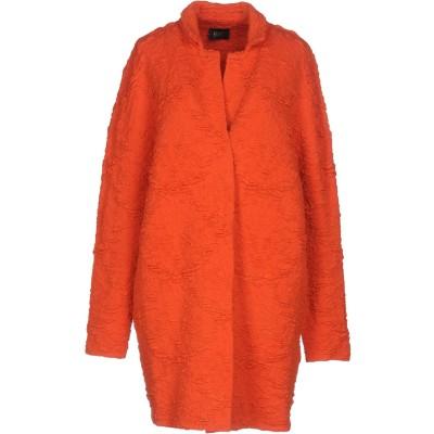 リュー ジョー LIU •JO コート オレンジ 42 アクリル 33% / ウール 32% / レーヨン 24% / ポリエステル 11% コート