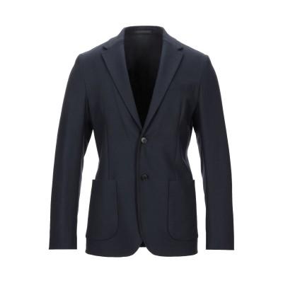 ZZEGNA テーラードジャケット ダークブルー 48 ウール 95% / ポリウレタン 5% テーラードジャケット