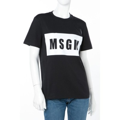 エムエスジーエム Tシャツ 半袖 丸首 2441MDM95 184299 レディース 41MDM95 184299 ブラック MSGM