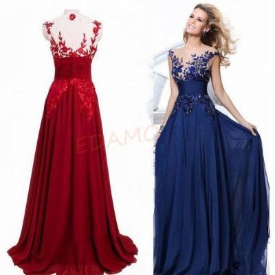 イブニングドレス 40代 ワイン赤 パーティドレス ノースリーブ ロングドレス 50代 発表会 演奏会ドレス 背開き 二次会 お呼ばれドレス