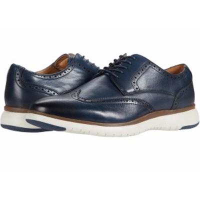 フローシャイム メンズ ドレスシューズ シューズ Flair Wing Tip Oxford Navy Leather/White Sole