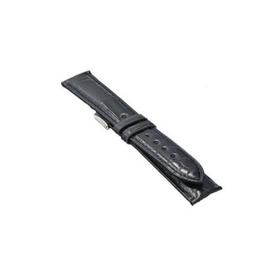 腕時計 ベルト クロコダイル ダークブルー 時計屋復刻堂オリジナル 20mm