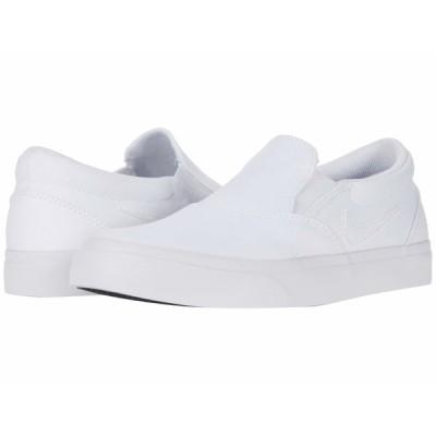 ナイキ スニーカー シューズ レディース Charge Canvas Slip White/White/White