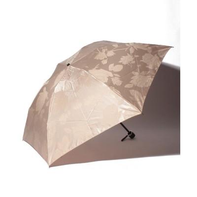 (LANVIN Collection(umbrella)/ランバンコレクション)LANVIN COLLECTION(ランバンコレクション) 折りたたみ傘【ローズジャガード】/レディース ベージュ
