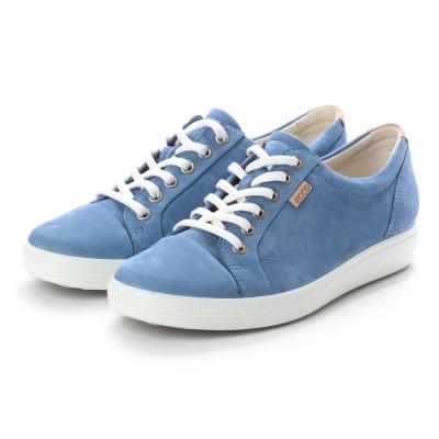 エコー ECCO Womens Soft 7 Sneaker (RETRO BLUE)