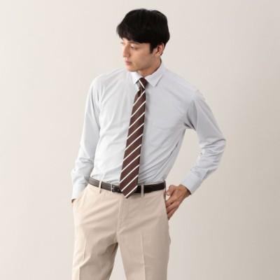 【TROTTER】 ストライプジャージ セミワイドカラー トロッターシャツ
