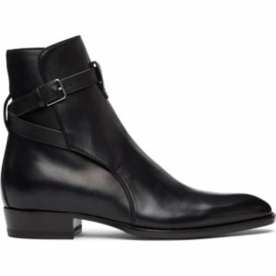 イヴ サンローラン Saint Laurent メンズ ブーツ シューズ・靴 Black Wyatt Jodhpur Boots Black