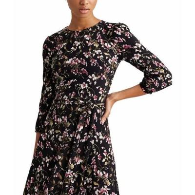 ラルフローレン ワンピース トップス レディース Felia with Sleeves Dress Black/Pink/Multi