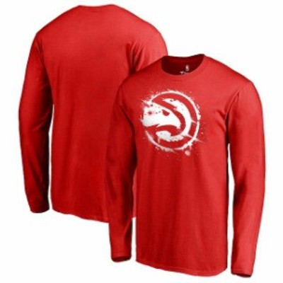Fanatics Branded ファナティクス ブランド スポーツ用品  Fanatics Branded Atlanta Hawks Red Splatter Logo Long Sl