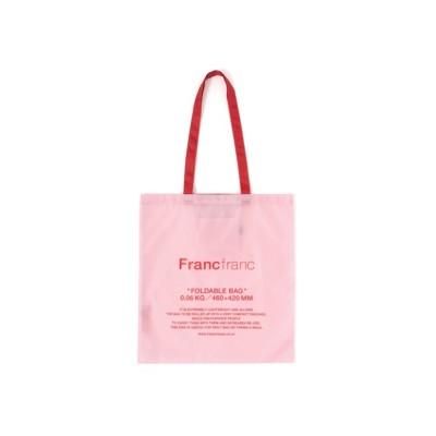 Francfranc / エルン エコバッグ ロゴ ライトピンク WOMEN バッグ > エコバッグ/サブバッグ